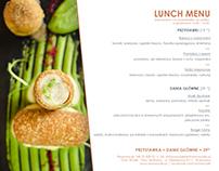 Restauracja Elixir / Dom Wódki - Lunch menu