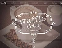 web design for Waffle Bakery