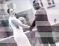 Colorful Black & White Wedding