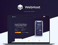 WebHost hosting page concept