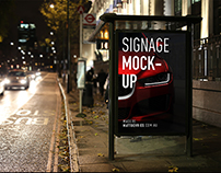 Smart Advertising Signage | PSD TEMPLATE MOCKUP