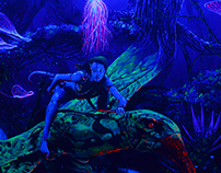 Avatar Florescent Mural Painting