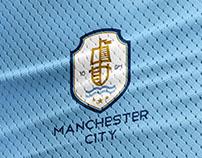Manchester City Logo Crest Rebranding.
