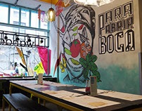 Wahaca Soho Restaurant Murals