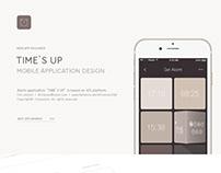 Mobile application design : Time's up