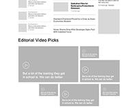 Wire Framing - News portal