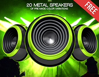 20 Free 3d Render Speakers Isolated in PSD