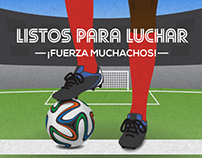 2014 Worldcup - Costa Rica's illustrated cheering posts