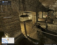 Rome's underground on Google Street View