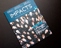 IMPACTS magazine printed on a Cocoon offset paper