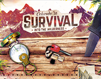 Survival School - Wilderness Flyer Template