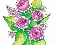 Floral Illustrations for Mother's Day Cards