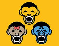 The 3 Monkeys logo