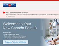 Canada Post First Time Login Workflows