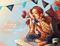 2019 New Year Animated Greeting Card
