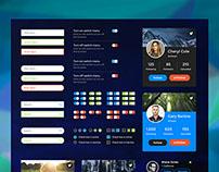 Charts / Social Retina UI Web Kit