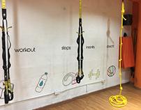 Diseño de mural Gymbox Venezuela