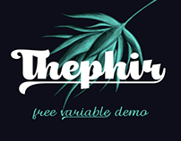 Thephir variable font