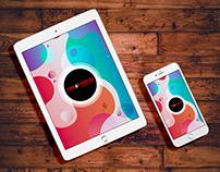 Free iPad and iPhone PSD Mockup