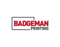 Badgeman Printing — Logo & Webdesign