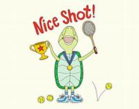 Nice Shot Turtle Kid's T-shirt and Greeting Card