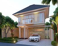 Desain Rumah Tropis moderen Sidoarjo