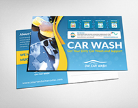 Car Wash Services Postcard Template