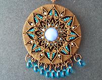 "Ethnic Pendant ""Mandala"""