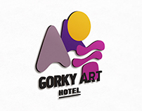 Gorki Art Hotel corporate identity