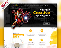 Free PSD : Creative Agency Portfolio Website PSD