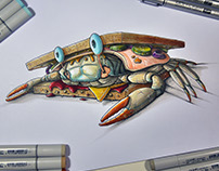 Crabs Copic Sketches