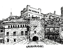 Valderrobres Landscapes, ink technique.