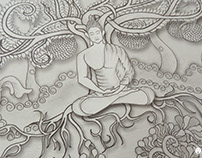 Shadows of Bodhi - Muralish Drawing