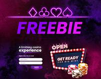 Retro Casino - PSD Freebie