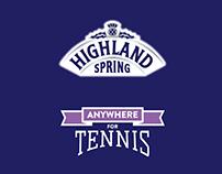 Highland Spring #AnywhereForTennis