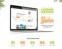 Muslim Travel Tourism Agency Landing Design