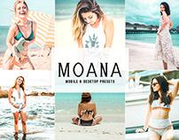 Moana Mobile & Desktop Lightroom Presets