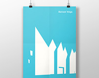 Architectural poster. One color serie.