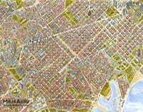 Plano urbano Barcelona 2100