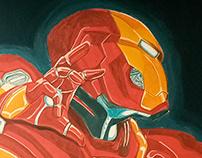 Ironman Wall painting
