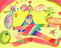 Time Management Illustration for WeTransfer