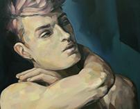 Adán. Oil on canvas. 100x81cm