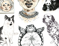 Selection of personal INK DRAWINGS 2011-2013