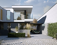 MODERN HOUSE IN DAY AND NIGHT (vis. for lk-projekt.pl)