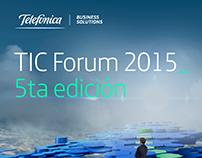 Telefónica TIC Forum | 2015