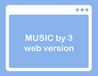 MUSIC by 3 - Web Version - Wireframe