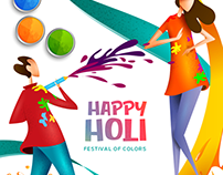 Holi Social Media Creatives