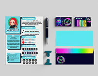 business cards and resume