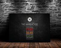 The Warehouse-Menu Design and Social Media Posts