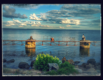 fisherman in Nikopol Ukraine.